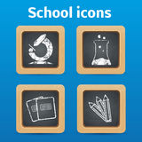 Back to school theme objects eps 10 Stock Images