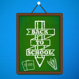 Back to school theme objects eps 10. Illustration of Back to school theme objects Royalty Free Stock Photo