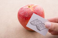 Back to school theme with an apple. Back to school theme with a red apple Stock Photos