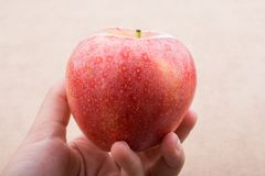 Back to school theme with an apple. Back to school theme with a red apple Royalty Free Stock Images
