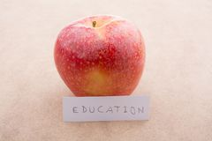 Back to school theme with an apple. Back to school theme with a red apple Stock Images