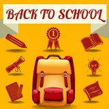 Back to school theme with school objects Stock Photos