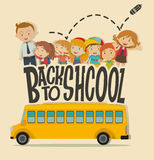 Back to school theme with teacher and pupils Stock Photography