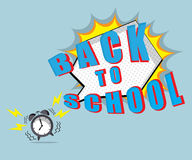 Back to school time with speech bubble Royalty Free Stock Image