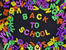 Back to school title Royalty Free Stock Image