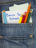 Back to school title Royalty Free Stock Images