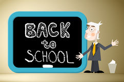 Back to School Title on Blackboard Royalty Free Stock Images