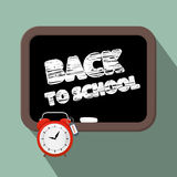 Back to School Title on Blackboard Royalty Free Stock Photo