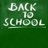 Back to school title - green chalkboard background Stock Photography