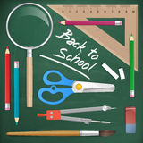 Back to school tools object  element Royalty Free Stock Photos