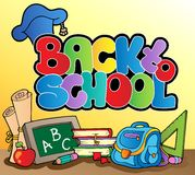 Back to school topic 1. Vector illustration Royalty Free Stock Photo