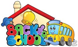 Back to school topic 2. Vector illustration Royalty Free Stock Photography