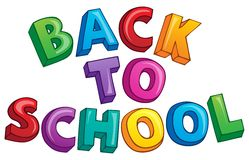 Back to school topic 3 Stock Photography