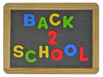 Back to school on traditional slate Stock Photography