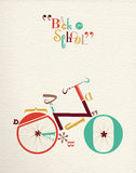 Back to school type font hipster bike illustration Stock Image