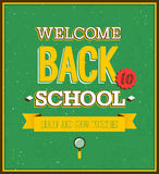 Back to school typographic design. Royalty Free Stock Photo