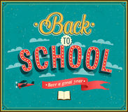 Back to school typographic design. Stock Photos