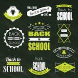 Back To School Typographic Emblems Stock Image