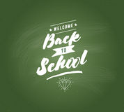Back to school typographic labels set. Royalty Free Stock Photo