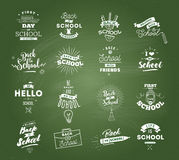 Back to school typographic labels set. Royalty Free Stock Images