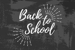 Back to School Typographic - Vintage Style Back to School. Vector illustration Royalty Free Stock Images