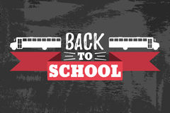 Back to School Typographic - Vintage Style Back to School. Vector illustration Stock Images