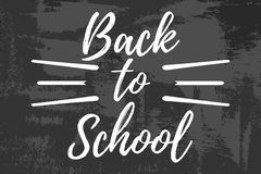 Back to School Typographic - Vintage Style Back to School. Vector illustration Royalty Free Stock Image