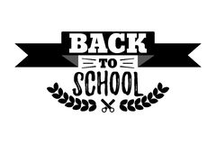 Back to School Typographic - Vintage Style Back to School. Vector illustration Stock Photos