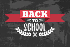 Back to School Typographic - Vintage Style Back to School. Vector illustration Royalty Free Stock Photos