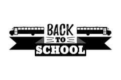 Back to School Typographic - Vintage Style Back to School. Vector illustration Royalty Free Stock Photo
