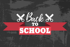 Back to School Typographic - Vintage Style Back to School. Vector illustration Stock Photography