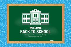 Back To School typographical background on chalkboard. Stock Photos