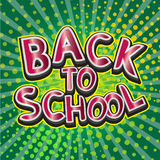 Back to school typography designs Royalty Free Stock Photo
