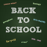Back to school typography on a green board Royalty Free Stock Images