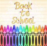 Back to School Typography Made of Pencil with Different Colored Crayons Royalty Free Stock Images