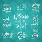 Back to School Typography Set - Vintage Style Lettering Sale Des Stock Illustration