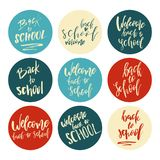 Back to School Typography Set - Vintage Style Lettering Sale Des Vector Illustration
