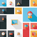 Back to school ui flat background. Vector illustration file stock illustration