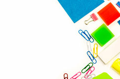 Back to school. various stationary on white Stock Images