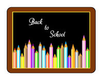 Back to school Vector. Boards with crayons, back to school Vector Stock Image