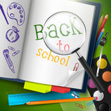 Back to school - vector background Stock Images
