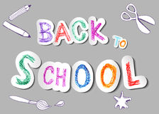 Back to school. Vector background Royalty Free Stock Photos