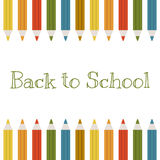 Back to school vector background with color pencils Stock Photo