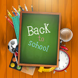 Back to school - vector background Stock Photos