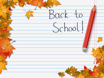 Back to school vector background Stock Images