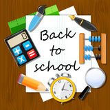 Back to School vector Background Stock Image