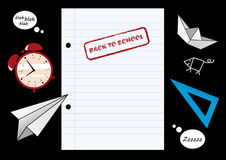 Back to school vector Stock Images