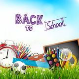 Back to school - vector background Stock Image