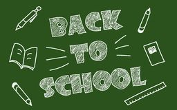 Back to school vector background stock illustration