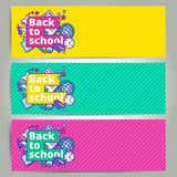 Back to school vector banner or bookmark template design. Educat Stock Photography
